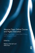 Massive Open Online Courses and Higher Education