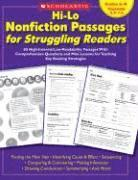 Hi-Lo Nonfiction Passages for Struggling Readers: Grades 6-8: 80 High-Interest/Low-Readability Passages with Comprehension Questions and Mini-Lessons