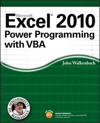 Excel 2010 Power Programming with VBA Book/CD Package