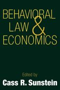 Behavioral Law and Economics
