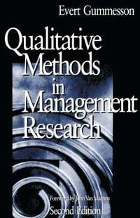 Qualitative Methods in Management Research