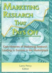 Marketing Research That Pays off