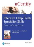 Effective Help Desk Specialist Skills Pearson uCertify Course Student Access Card