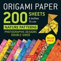 Origami Paper 200 Sheets Nature Patterns 6 Inches