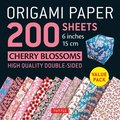 Origami Paper 200 Sheets Cherry Blossoms 6 Inch - 15cm