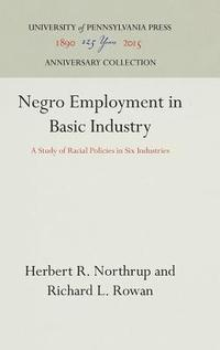 Negro Employment in Basic Industry