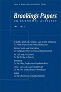 Brookings Papers on Economic Activity: Fall 2012