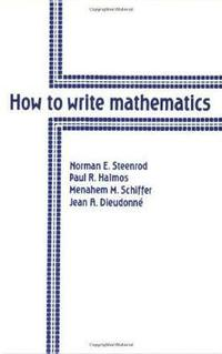 How to Write Mathematics