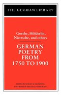 German Poetry from 1750-1900