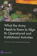 What the Army Needs to Know to Align its Operational and Institutional Activities