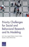 Priority Challenges for Social and Behavioral Research and Its Modeling