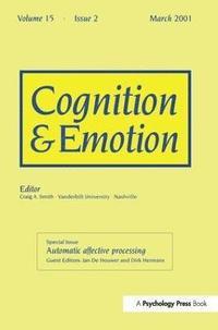 cognition and emotion de houwer jan hermans dirk