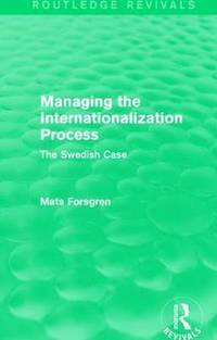 Managing the Internationalization Process