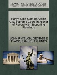 Hart V. Ohio State Bar Ass'n U.S. Supreme Court Transcript of Record with Supporting Pleadings
