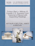 Fortson (Ben) V. Millican (G. Everett) U.S. Supreme Court Transcript of Record with Supporting Pleadings