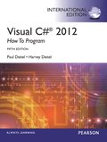 Visual C# 2012 How to Program, International Edition