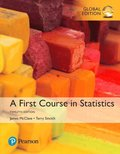 A First Course in Statistics plus MyStatLab with Pearson eText, Global Edition