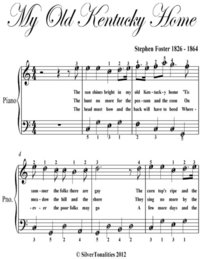 My Old Kentucky Home Easy Piano Sheet Music
