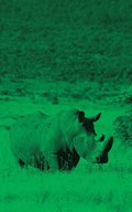 Alive! white rhino - Green duotone - Photo Art Notebooks (5 x 8 series)