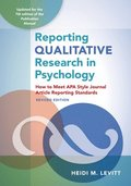 Reporting Qualitative Research in Psychology