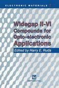 Widegap II-VI Compounds for Opto-electronic Applications