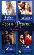 Modern Romance Collection: July 2017 Books 1 - 4: The Pregnant Kavakos Bride / The Billionaire's Secret Princess / Sicilian's Baby of Shame / The Secret Kept from the Greek