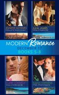 Modern Romance Collection: December Books 5 - 8: A Night of Royal Consequences / Carrying His Scandalous Heir / Christmas at the Tycoon's Command / Innocent in the Billionaire's Bed (Mills & Boon e-