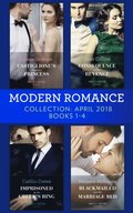 Modern Romance Collection: April 2018 Books 1 - 4: Castiglione's Pregnant Princess / Consequence of His Revenge / Imprisoned by the Greek's Ring / Blackmailed into the Marriage Bed