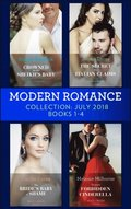 Modern Romance July 2018 Books 1-4 Collection: Crowned for the Sheikh's Baby / The Secret the Italian Claims / The Bride's Baby of Shame / Tycoon's Forbidden Cinderella