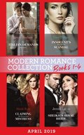 Modern Romance April 2019 Books 1-4: The Italian Demands His Heirs (Billionaires at the Altar) / Innocent's Nine-Month Scandal / Chosen as the Sheikh's Royal Bride / Claiming My Untouched Mistress