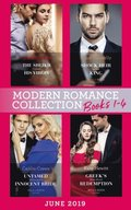 Modern Romance June 2019 Books 1-4: The Sheikh Crowns His Virgin (Billionaires at the Altar) / Greek's Baby of Redemption / Shock Heir for the King / Untamed Billionaire's Innocent Bride