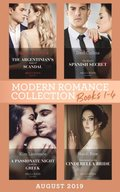 Modern Romance August 2019 Books 1-4: The Argentinian's Baby of Scandal (One Night With Consequences) / The Maid's Spanish Secret / A Passionate Night with the Greek / Contracted as His Cinderella B