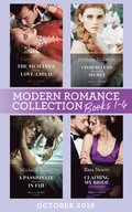 Modern Romance October 2019 Books 1-4: The Sicilian's Surprise Love-Child (One Night With Consequences) / Cinderella's Scandalous Secret / A Passionate Reunion in Fiji / Claiming My Bride of Conveni