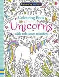 Colouring Book Unicorns with Rub-Down Transfers
