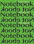 Graph Paper Notebook 120 pages with 1 cm squares: 8.5 x 11 inch notebook with lime cover, graph paper notebook with one centimeter squares, perfect bo