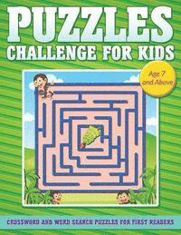 Puzzle Challenge for Kids: Crossword and Word Search Puzzles