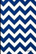Journal Daily: Dark Blue Chevron, Lined Blank Journal Book, 6 X 9, 200 Pages