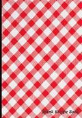 Blank Recipe Book: Classic Red Tablecloth Design, Blank Cookbook with Measure Equivalents Chart, 7 X 10, 108 Pages