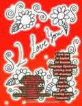I Love You in English for Russian Language Speakers Coloring Book 20 Drawings Easy Use to Decorate Gift Greeting Cards Keepsake