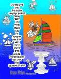 Coloring Book Boats for Russian Language Speakers Sailing Water Sea Ocean Waves Fun for Everyone Children Adult Retirees School Work Hospital Retireme
