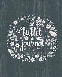 Bullet Journal Dot Grid for 90 Days, Chalkboard Flower Numbered Pages Quarterly Journal Diary,: Large Bullet Journal 8x10 with 150 Dot Grid Pages with