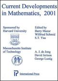 Current Developments In Mathematics, 2001