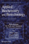 Biotechnology for Fuels and Chemicals