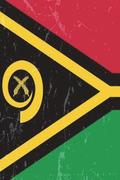 Vanuatu Flag Journal: Vanuatu Travel Diary, Holiday Souvenir Book, Lined Journal to Write in