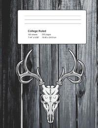 College Ruled 100 Sheets / 200 Pages: Deer Hunting College Lined Composition Notebook Journal