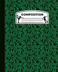 Composition: Ice Skating Green and Black Marble Composition Notebook for Girls. Figure Skater Wide Ruled Book 7.5 x 9.25 in, 100 pa