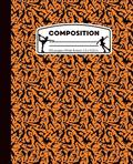 Composition: Ice Skating Orange and Black Marble Composition Notebook for Girls. Figure Skater Wide Ruled Book 7.5 x 9.25 in, 100 p