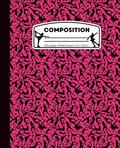 Composition: Ice Skating Pink and Black Marble Composition Notebook for Girls. Figure Skater Wide Ruled Book 7.5 x 9.25 in, 100 pag