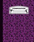 Composition: Ice Skating Purple and Black Marble Composition Notebook for Girls. Figure Skater Wide Ruled Book 7.5 x 9.25 in, 100 p