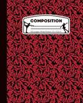 Composition: Ice Skating Red and Black Marble Composition Notebook for Girls. Figure Skater Wide Ruled Book 7.5 x 9.25 in, 100 page
